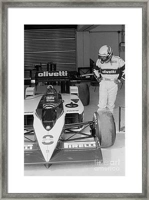 Riccardo Patrese. 1986 Spanish Grand Prix Framed Print by Oleg Konin