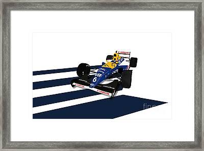 Riccardo Patrese - Williams Fw14b Framed Print by Jeremy Owen