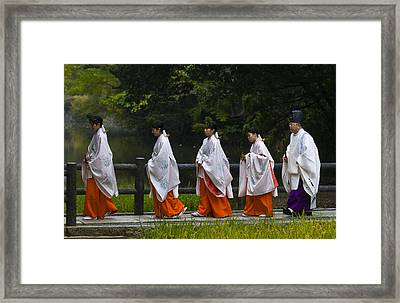 Rice Harvest Ceremony Framed Print by Kobby Dagan