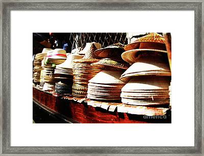 Rice Hats Framed Print