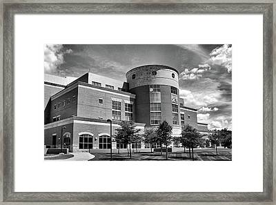 Rice Library B W Framed Print