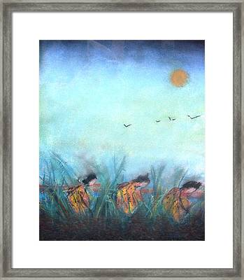 Rice Paddy Framed Print by Thomas Armstrong