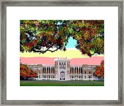 Rice University Framed Print