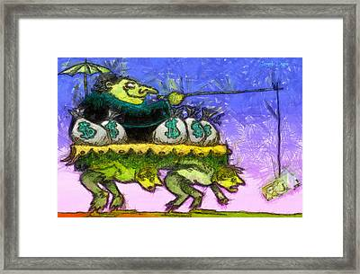 Rich And Poor - Pa Framed Print