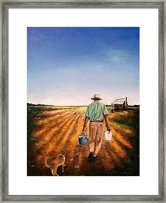 Rich Dad Poor Dad Framed Print by Emery Franklin
