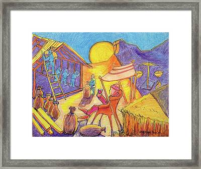 Rich Fool Parable Painting By Bertram Poole Framed Print by Thomas Bertram POOLE