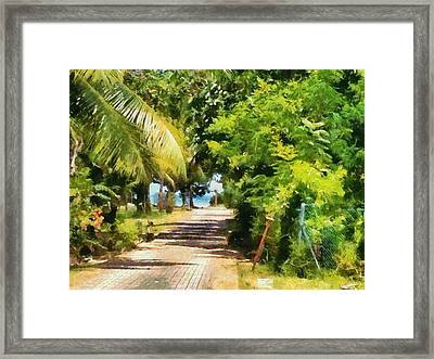 Rich Green Path Framed Print