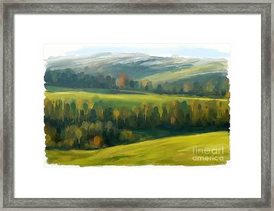 Framed Print featuring the painting Rich Landscape by Ivana Westin