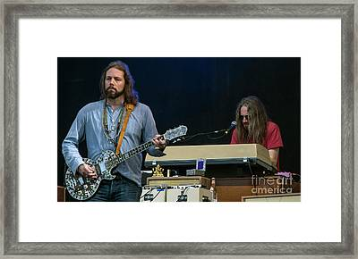 Rich Robinson And Adam Macdougall With The Black Crowes Framed Print by David Oppenheimer