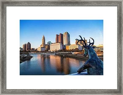 Rich Street Bridge Columbus Framed Print