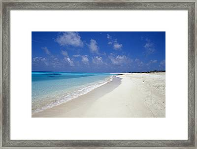 Rich Turquoise Seas And Coral Reefs Framed Print by Jason Edwards