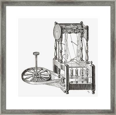 Richard Arkwright S Water Frame. From Framed Print by Vintage Design Pics