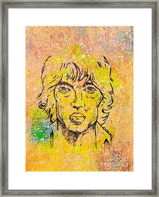Richard Ashcroft Framed Print by Lowkey  Luciano