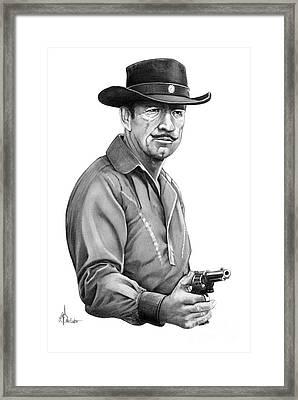 Richard Boone As Paladin Framed Print