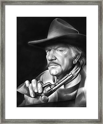Richard Boone Framed Print by Greg Joens