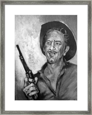 Framed Print featuring the painting Richard  Boone by Paul Weerasekera