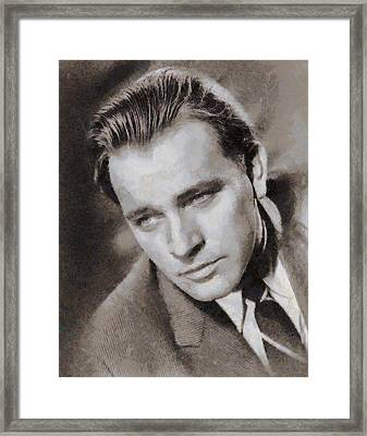 Richard Burton Hollywood Actor Framed Print by John Springfield