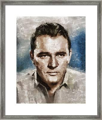 Richard Burton Hollywood Actor Framed Print by Mary Bassett