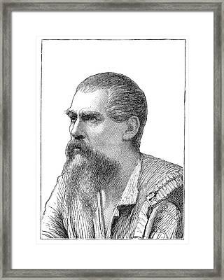 Richard Francis Burton, British Explorer Framed Print by