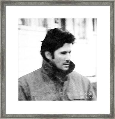 Richard Gere Was Here Framed Print by Marsha Heiken