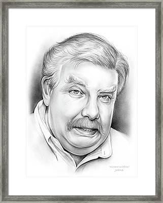 Richard Griffiths Framed Print by Greg Joens