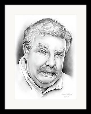 British Celebrities Drawings Framed Prints