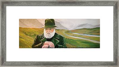 Richard Harris In The Film Called The Field Framed Print by Cathal O malley