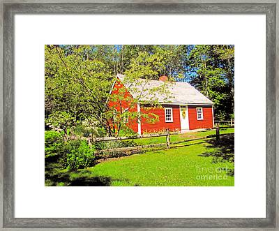 Richard Hunnewell House, Scarborough Maine Framed Print by Elizabeth Dow