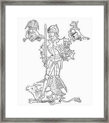 Richard Neville, 16th Earl Of Warwick Framed Print