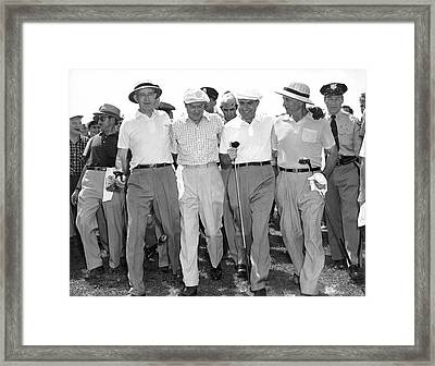 Richard Nixon Playing Golf Framed Print by Underwood Archives