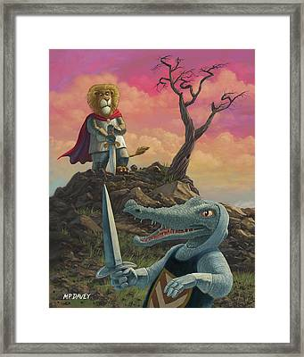 Richard Of Lionheart Framed Print by Martin Davey