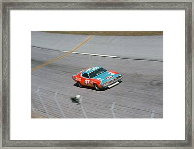 Richard Petty # 43 Stp Dodge Charger At Daytona Framed Print by David Bryant