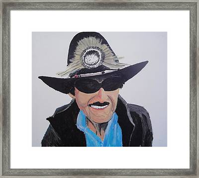 Richard Petty Framed Print by Stephen Ponting