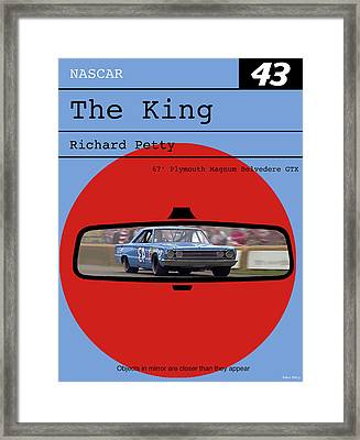 Richard Petty, The King, Plymouth Magnum Belvedere, Minimalist Poster Framed Print by Thomas Pollart