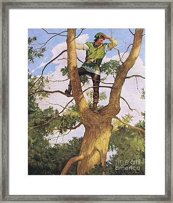Richard Shelton Framed Print by Newell Convers Wyeth