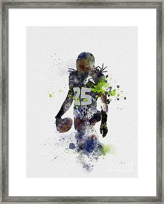 Richard Sherman Framed Print by Rebecca Jenkins