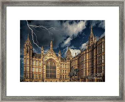 Framed Print featuring the photograph Richard The Lionheart by Adrian Evans