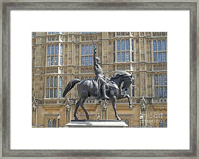 Richard The Lionheart Framed Print by Rod Jones