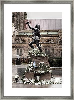 Richard The Third Statue Framed Print