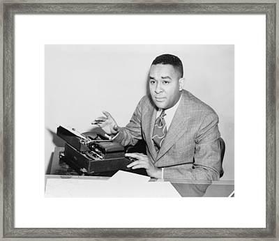 Richard Wright 1908-1960, Seated Framed Print by Everett
