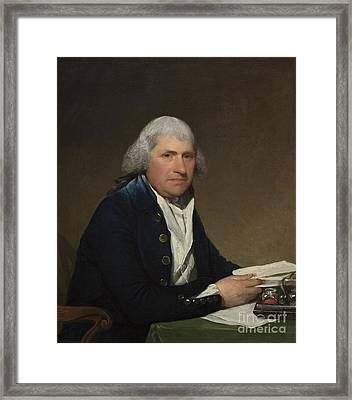 Richard Yates Framed Print by Gilbert Stuart