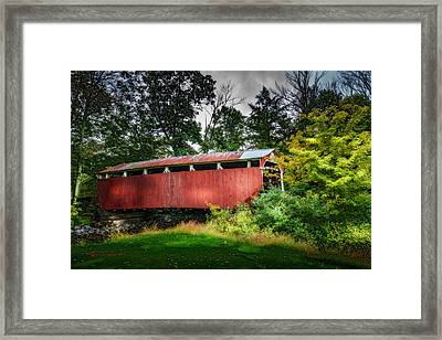 Richards Covered Bridge Framed Print by Marvin Spates