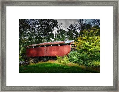 Richards Covered Bridge Framed Print