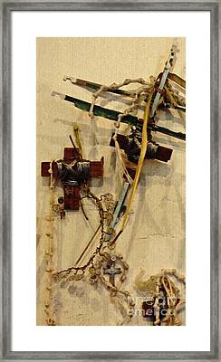 Richard's Crosses Framed Print by Sarah Loft