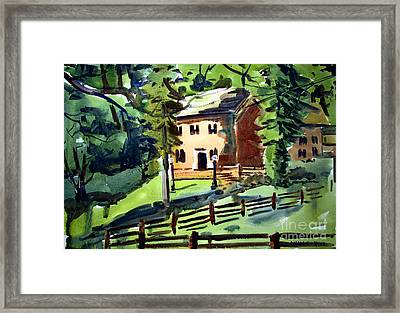 Richardville House Miami Chief Framed Matted Glazed Framed Print by Charlie Spear
