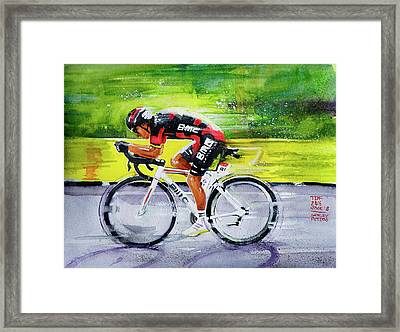 Richie Porte Framed Print by Shirley Peters