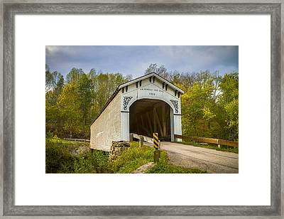 Richland Creek Covered Bridge Framed Print by Jack R Perry