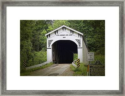 Richland Plummer Creek Covered Bridge Framed Print by Phyllis Taylor