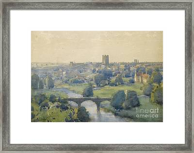Richmond Castle From The Terrace Framed Print by MotionAge Designs