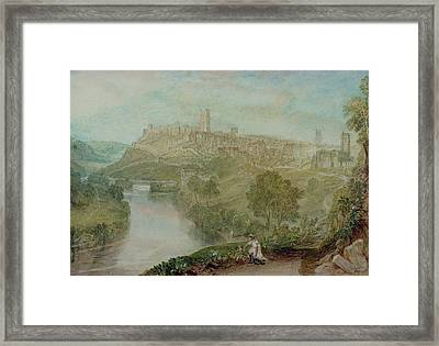 Richmond In Yorkshire Framed Print by Joseph Mallord William Turner
